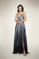 OMBRE SATIN SLIP DRESS