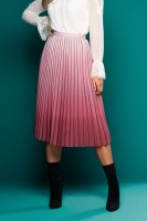 PLEATED MAUVE MIDI SKIRT
