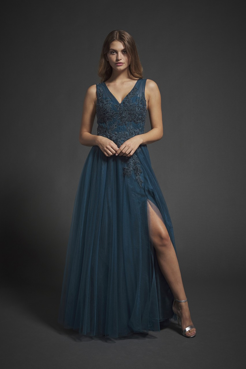 EBROIDERED TULLE DRESS