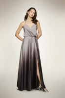 OMBRE SATIN SLIP DRESS