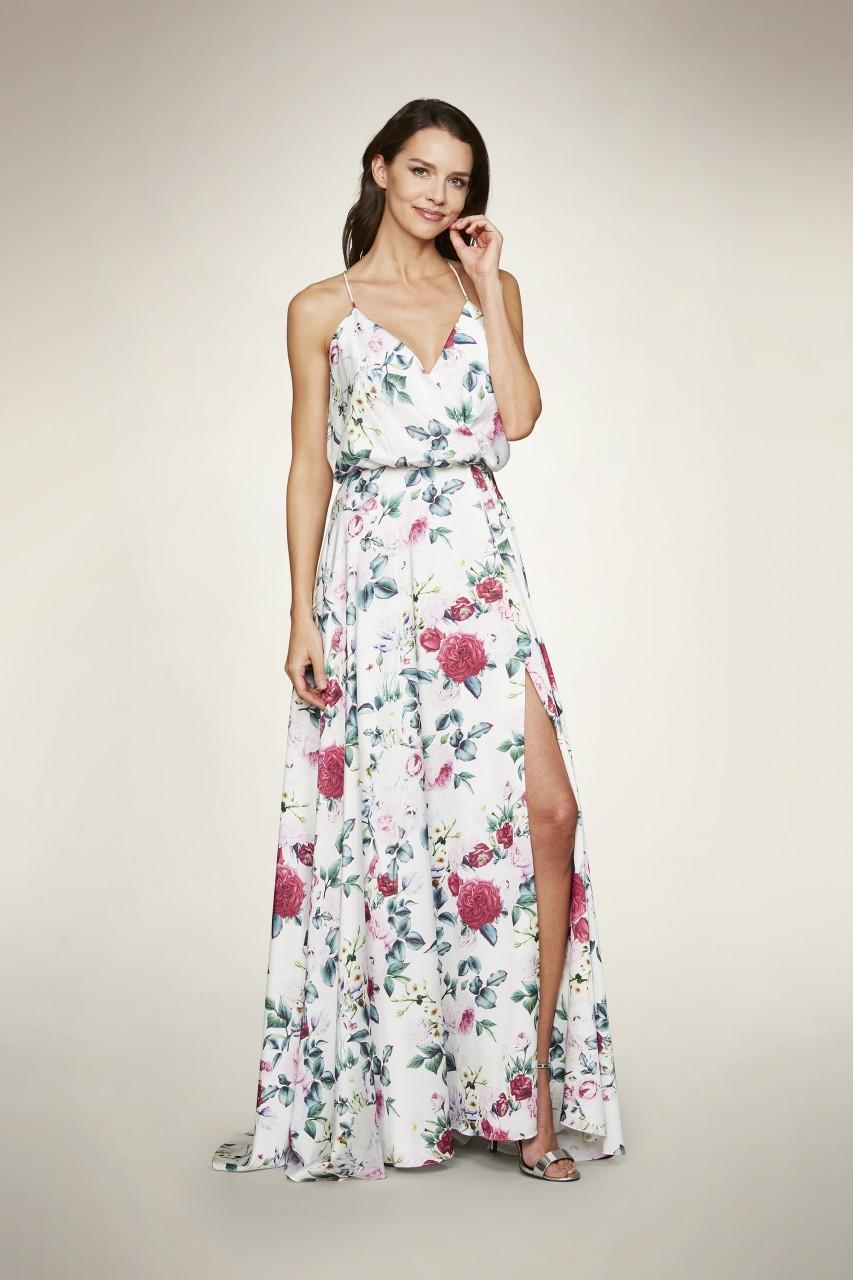 SATIN SLIP BLOOM DRESS